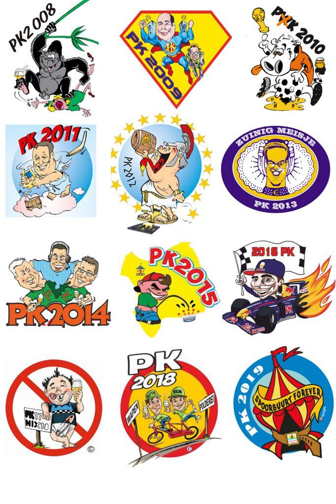 Polderse Kermis, logo, pk